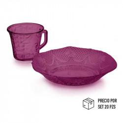 Envase de vidrio ambar de 240ml