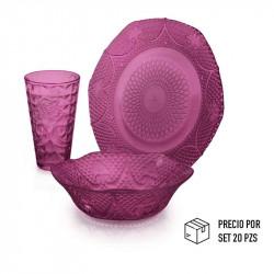 Copa de vidrio para agua