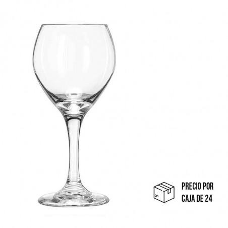 Vaso de vidrio cristalino