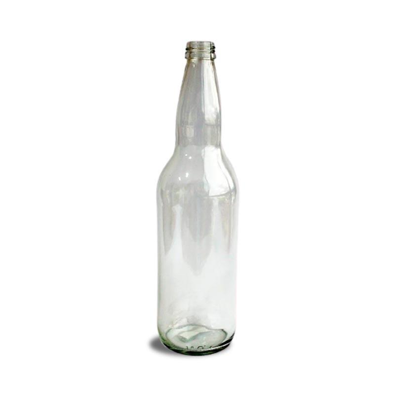 Envase de vidrio de 16 onzas con tapa dorada