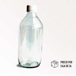 Envase de vidrio de 16 onzas sin tapa